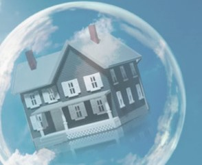house floating in a bubble